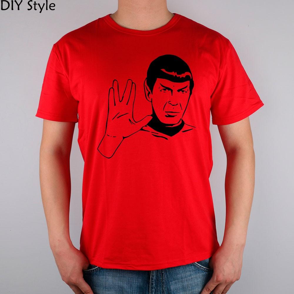 LIVE LONG AND PROSPER SPOCK STAR TREK men short sleeve T-shirt new arrival Fashion Brand t shirt for men  HTB1Y1BpMpXXXXcPXVXXq6xXFXXX3