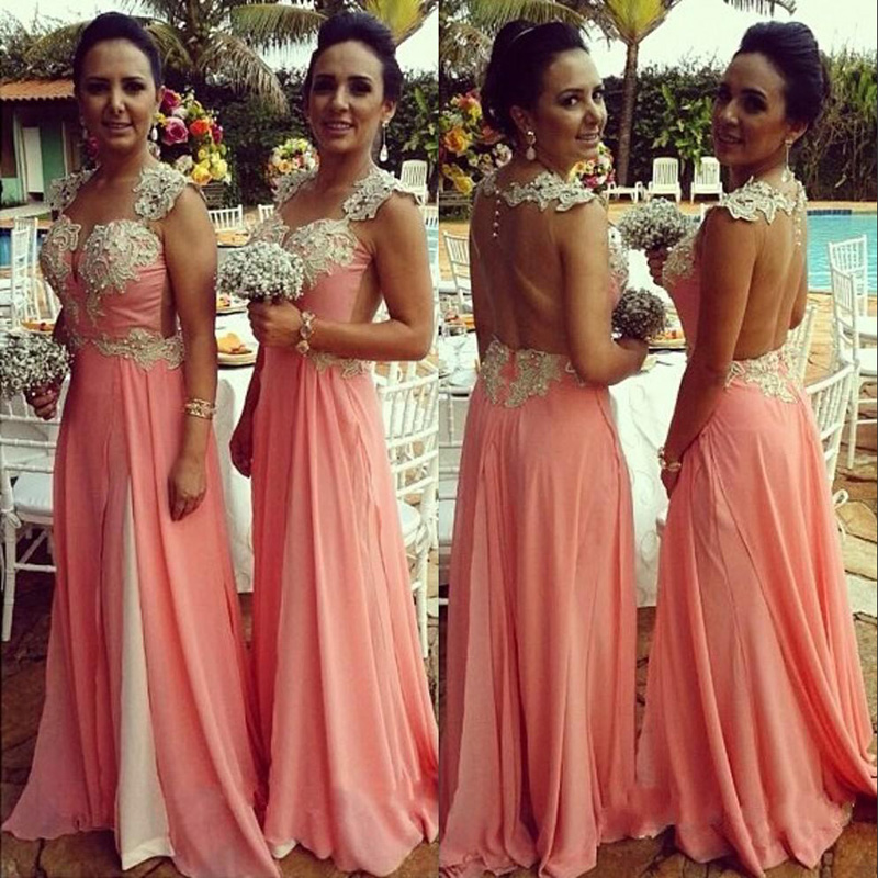 Petal Pink Bridesmaid Dress - Ocodea.com