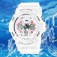 Skmei deporte ejército militar Digital de cuarzo impermeable relojes llevados hora Dual reloj de pulsera 0966