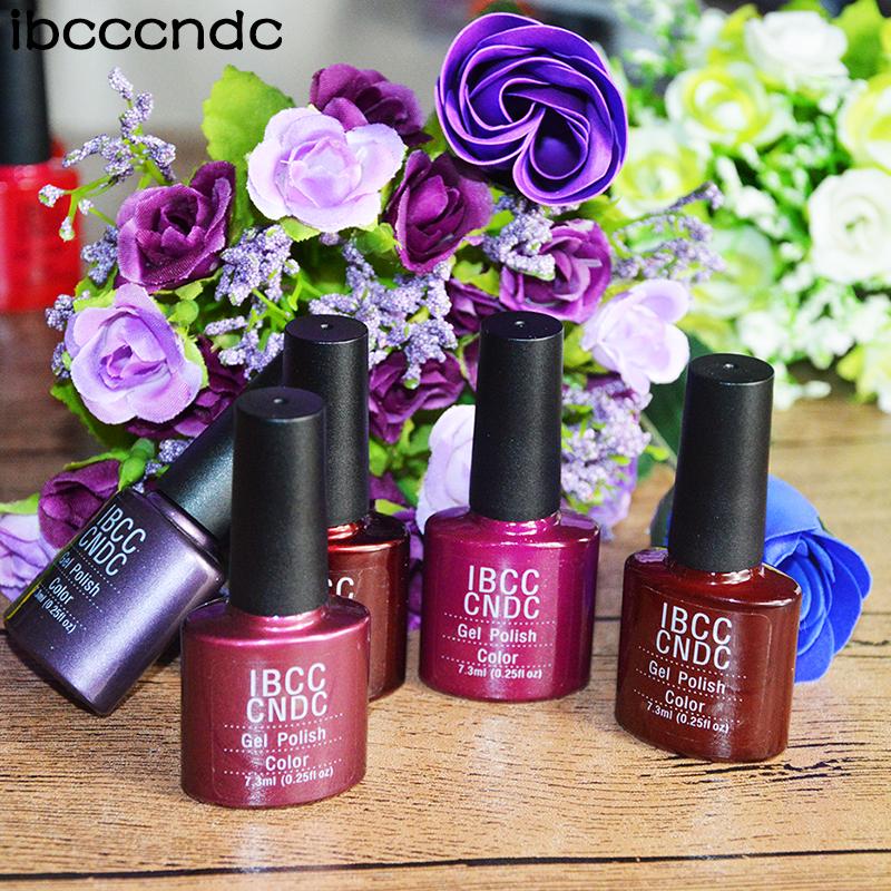 79 Colors 2016 Newest IBCCCNDC Charming Nail Gel Soak Off UV/LED Lamp Colorful Nail Polish For Salon Nail Art Lacquer, 5pcs/lot(China (Mainland))