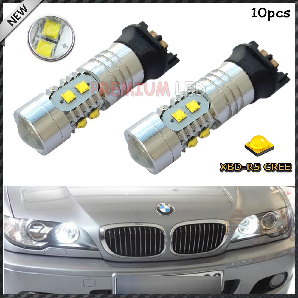 10x Error Free PWY24W PW24W CREE LED Bulbs For A3 A4 A5 Q3 VW MK7 Golf CC Ford Fusion Front Turn Signal Lights, F30 3 Series DRL(China (Mainland))