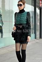 новые женщины бутон Шелковый, объединении пальто тонкий кружевной вниз куртка утолщение мягкий хлопок куртка зимняя куртка женщин