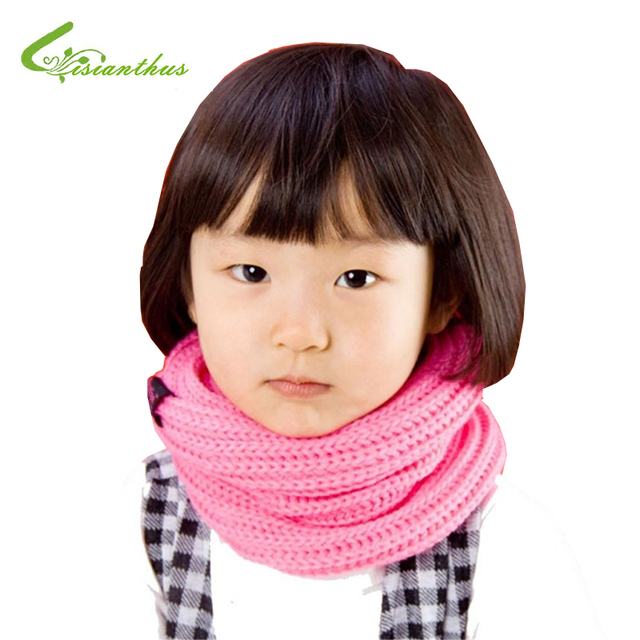 Baby Knitting Scarves 5 Colors in Stock 2016 New Style Designer Muffler Brand Scarf Kids Girl Autumn Winter Neck Warmer Gift