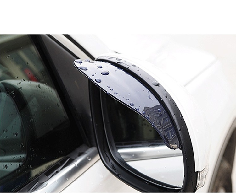 2 PCS Car Reviewer Mirror Covers Rain Shield Plastic Dust Cover(China (Mainland))