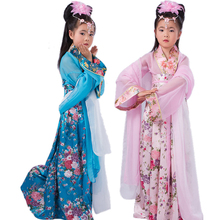 Buy 5 Colors Children Traditional Costume Kids Chinese Hanfu Chang'e Party Cosplay Clothing Child Ancient Stage Dance Costume 89 for $28.55 in AliExpress store