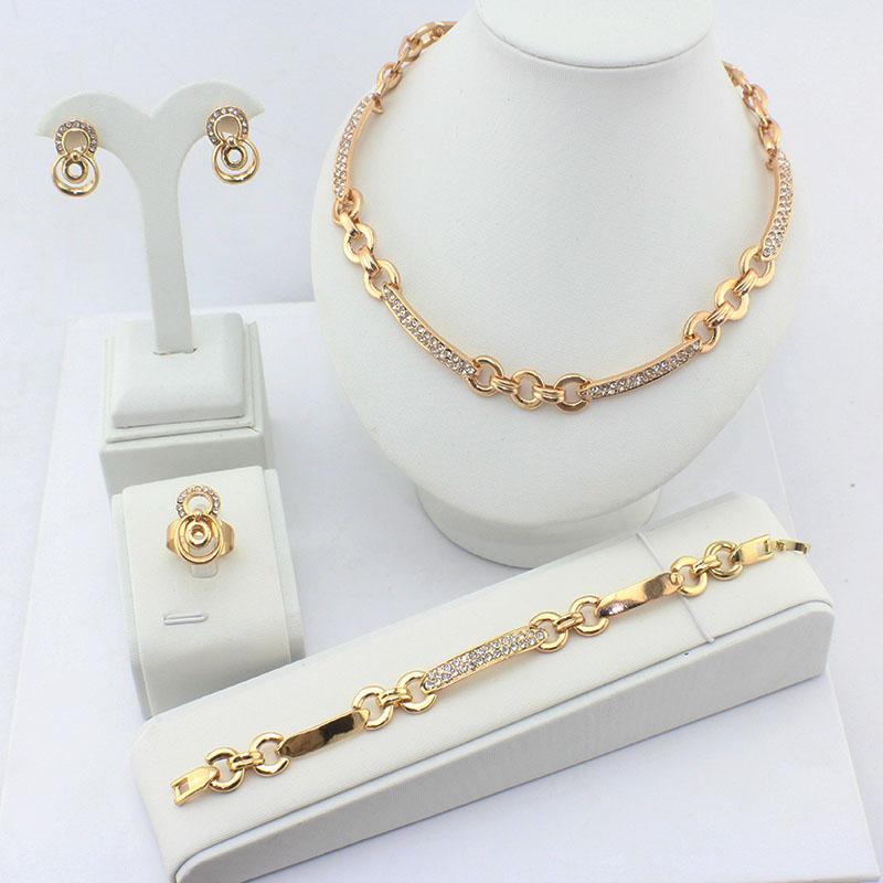 Wedding Dresses With Jewelry : Aliexpress buy women wedding dress jewelry sets k gold