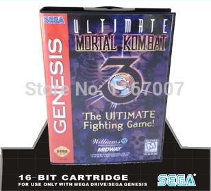 Sega MD games card with Box - Mortal Kombat The Ultimate Fighting For 16 bit Sega MegaDrive Genesis Game Cartridge System(China (Mainland))