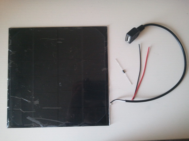 Free shipping 6V 4.5W A grade High efficiency monocrystalline Epoxy solar panel.solar cell panel for DIY solar charger+Diode+USB(China (Mainland))