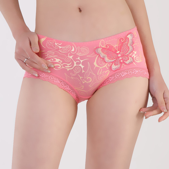 5Pcs/lot  Panty women's seamless modal bamboo fibre 100% cotton mid waist lace sexy panties female