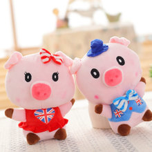 Buy 20cm 1 piece Wedding Gift Wear suspenders Pig Plush Toys pig cloth doll kids toys baby doll Sucker stuffed plush Christmas for $4.99 in AliExpress store