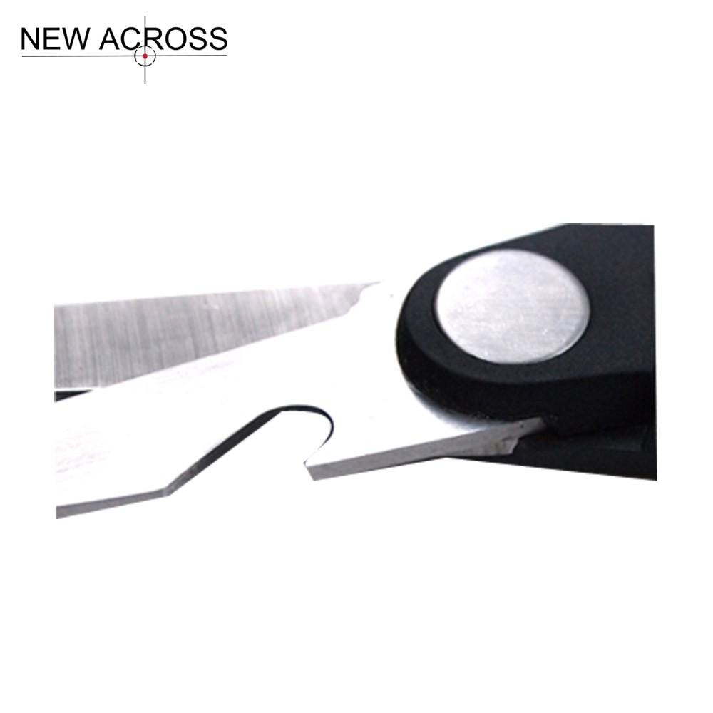 Buy Gohide 1pcs Kitchen Knife Multi-functional Shears Stainless Steel Multi-functional Scissors Non-Slip Black Scissors Handle cheap
