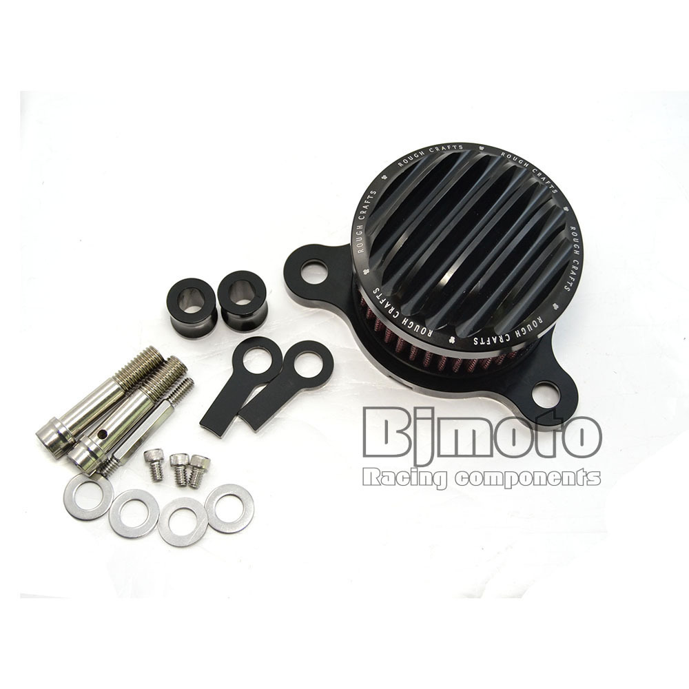 AC-001-BK Aluminum Motorcycle Air Cleaner Intake Filter System for Harley Sportster 04-14 XL 883/1200(China (Mainland))