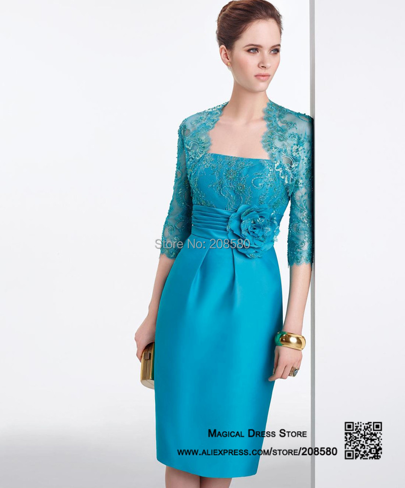 Teal Blue Mother Of The Bride Dresses - High Cut Wedding Dresses