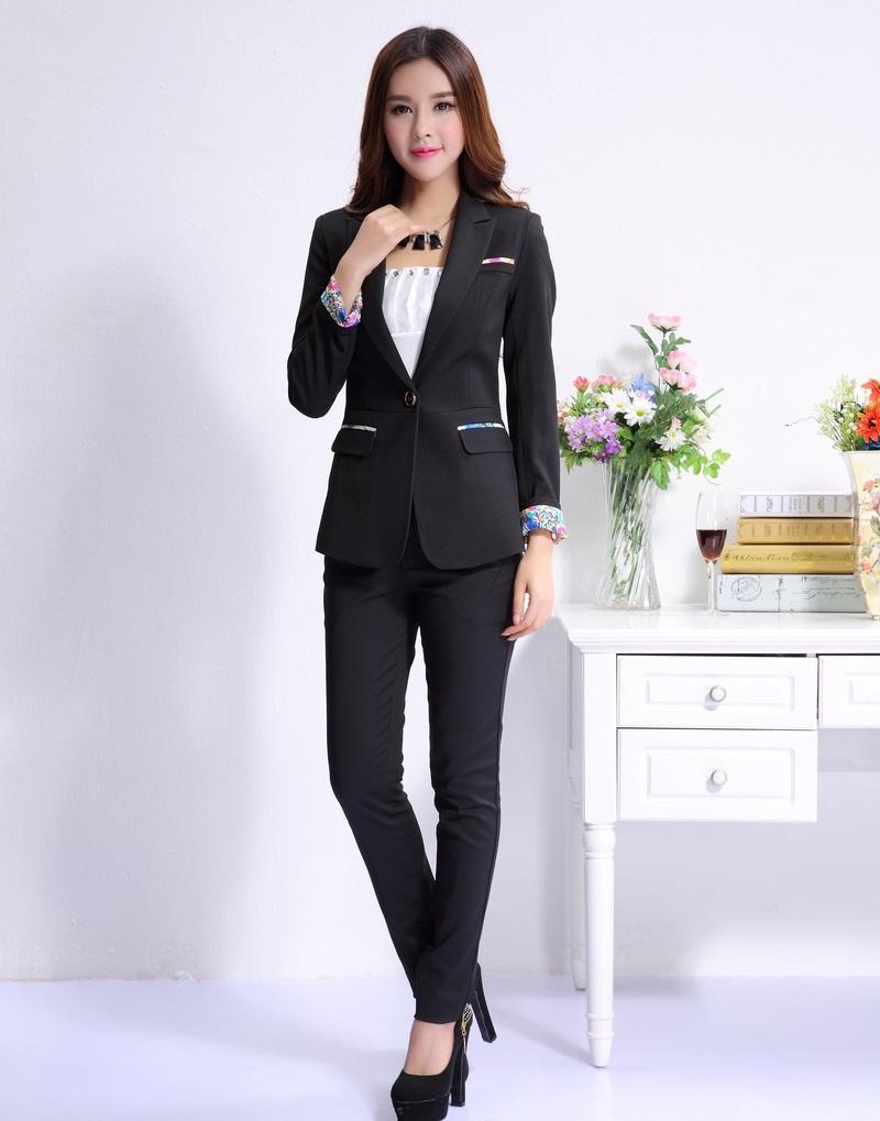 formal black blazer women business suits formal office