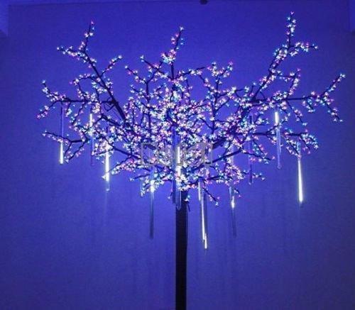 led icicle light with end plug christmas tree light Party Garden Decoration 4m 96led AC 220v EU Plug 5pcs/lot led curtain lights(China (Mainland))