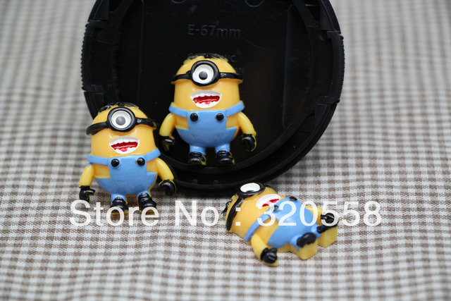 New lovely  NEW ME2 Minion #T  FlatBack Resins Scrapbooking Embellishment DIY Fridge magnets /hair accessories 50pcs