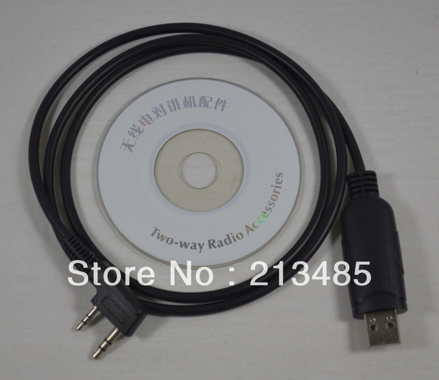 USB  Programming Cable with CD Programming software for Kenwood/Baofeng/WOUXUN/PUXING/Linton UV-5R  Walkie Talkie