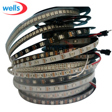 Buy DC5V 1m/4m/5m WS2812B 30/60/144 leds/pixels/m Smart LED Pixel Strip Black/White PCB WS2811 IC WS2812B IP30/IP67 LED Light Strip for $3.19 in AliExpress store