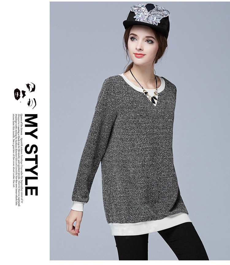Новые прибытия женщин осень основной стиль широкий снежинка вязание свитера профессиональный большие размеры дизайн L-5XL высокого качества