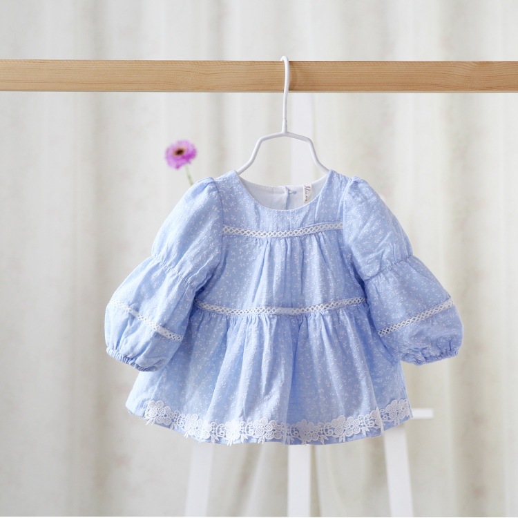 Free shipping 2 colors 2015 New autumn baby girls floral princess dress children kids dress long sleeve lace<br><br>Aliexpress