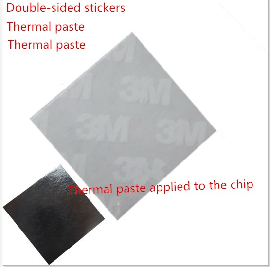 10 3M 8810 High Performance 25*25mm Thermal Conductive Adhesive Transfer Tape Pad - Filled aluminum Radiator Co., Ltd. store