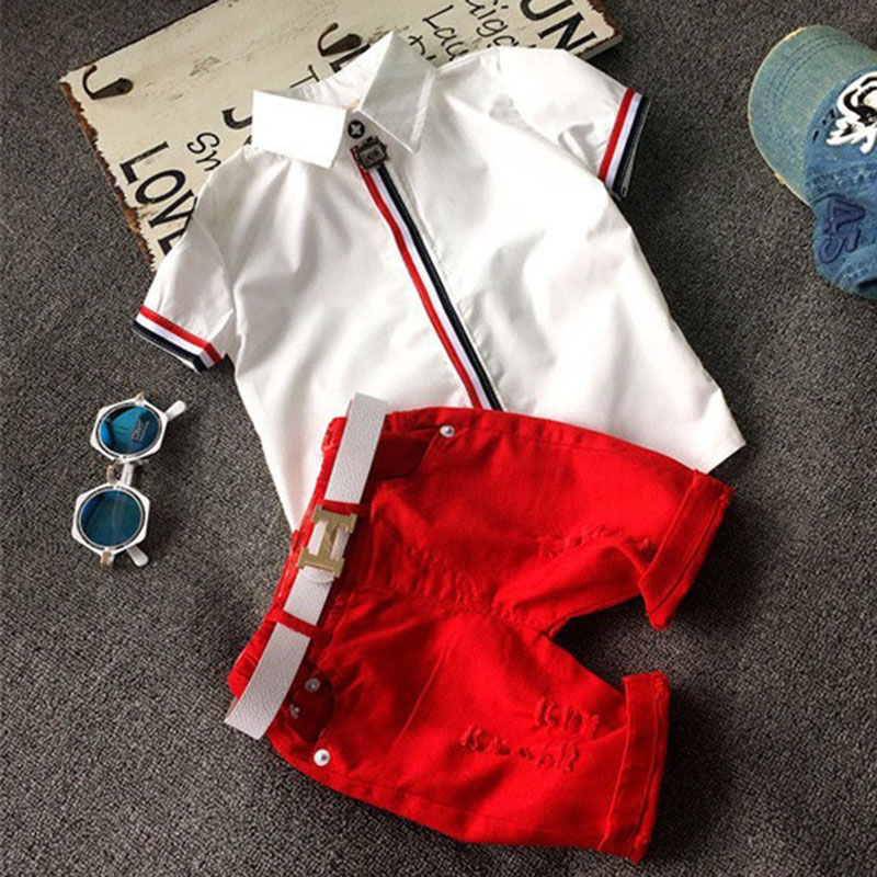 2T-6T High quality Children clothing sets Baby boys girls t shirts+shorts pants sports suit kids clothes