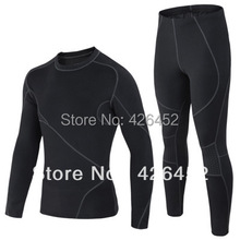 Free shipping men's thermal underwear male sports apparel outdoor sets autumn winter warm clothes riding suit(China (Mainland))
