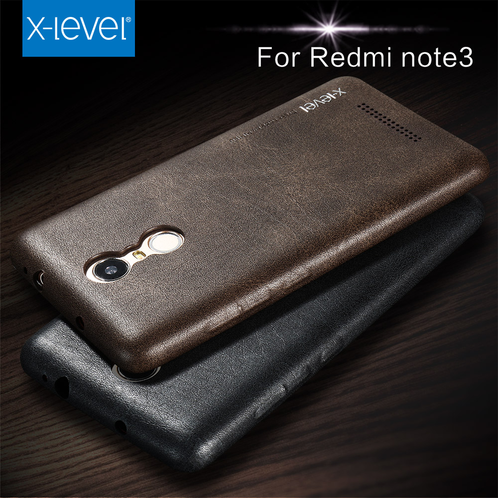 Free Shipping X-level Luxury Vintage PU Leather Phone case for Xiaomi redmi note 3 Back cover case for redmi note 3(China (Mainland))