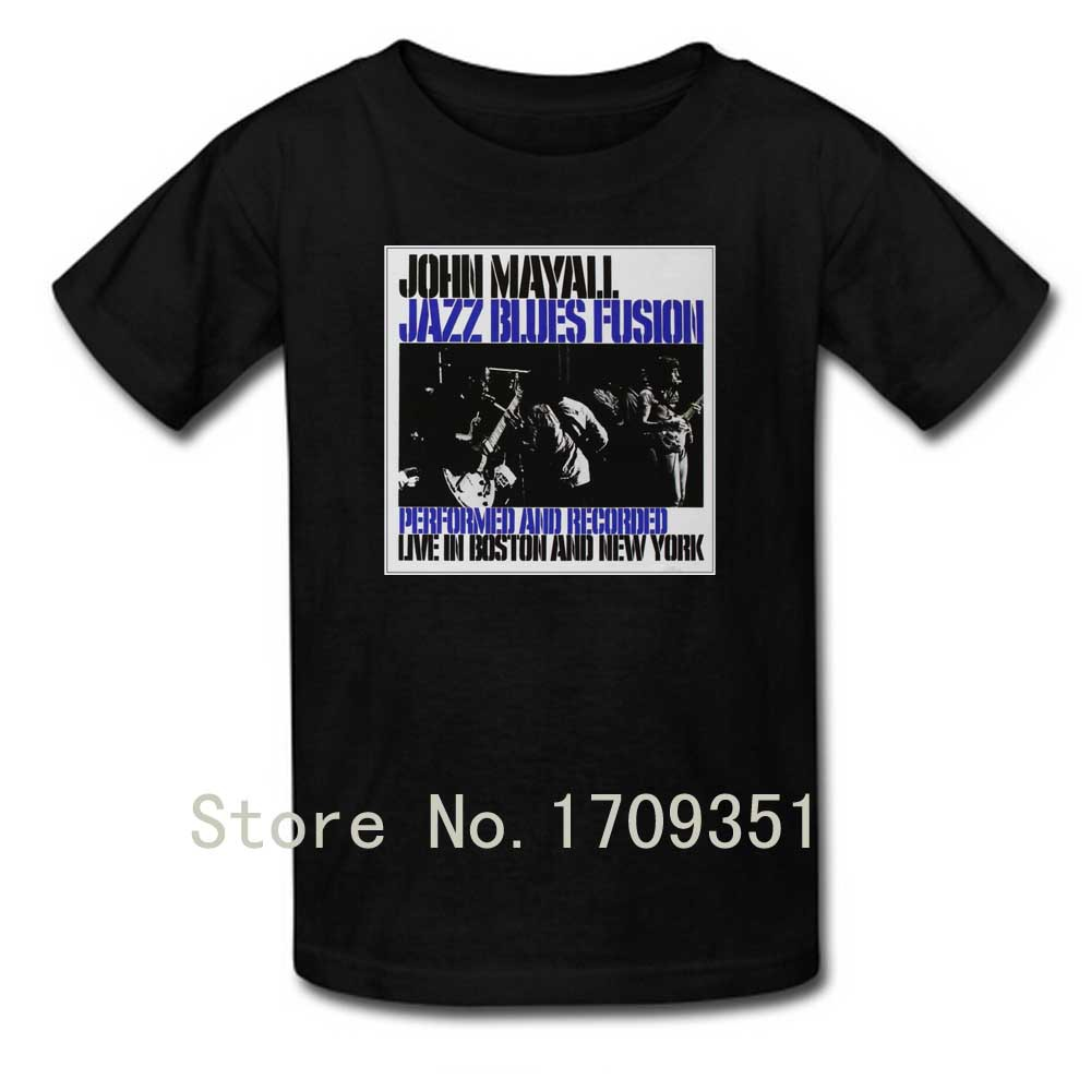 T-shirts Jazz Blues Fusion John Mayall Print Men Casual Cotton Short T Shirt Free Shipping(China (Mainland))