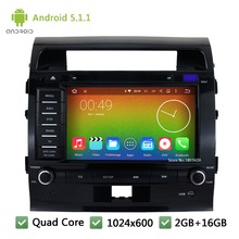 Quad Core Android 5.1.1 2Din 8″ 1024*600 Car DVD Player Radio Stereo PC Audio Screen GPS For Toyota Land Cruiser 200 2007-2013