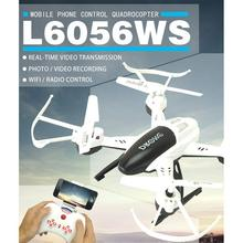 L6056WS Wifi Real Time Transmission 2.4Ghz 4CH 6-Axis Gyro RC Quadcopter Aircraft 360 Roll Helicopter Drone With Camera RTF