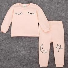 baby girls and boys clothing long sleeve baby sleepwear suits spring/autumn Infant cotton clothes cartoon newborn Pajamas  55(China (Mainland))