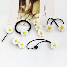2016 Flower Hair Clips Children  Unique White Resin Barrettes Elastic Hair Bands Lovely Girls Radom Style Hairpins 6 pcs