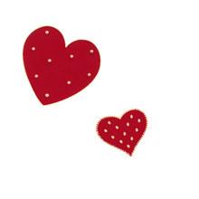 Fashion Gadis Cinta Jantung Enamel Pin Merah 2 Pcs/set Bros Kemeja Kerah Mantel Lencana Perhiasan Anak Wanita Pesta Pernikahan Aksesoris(China)