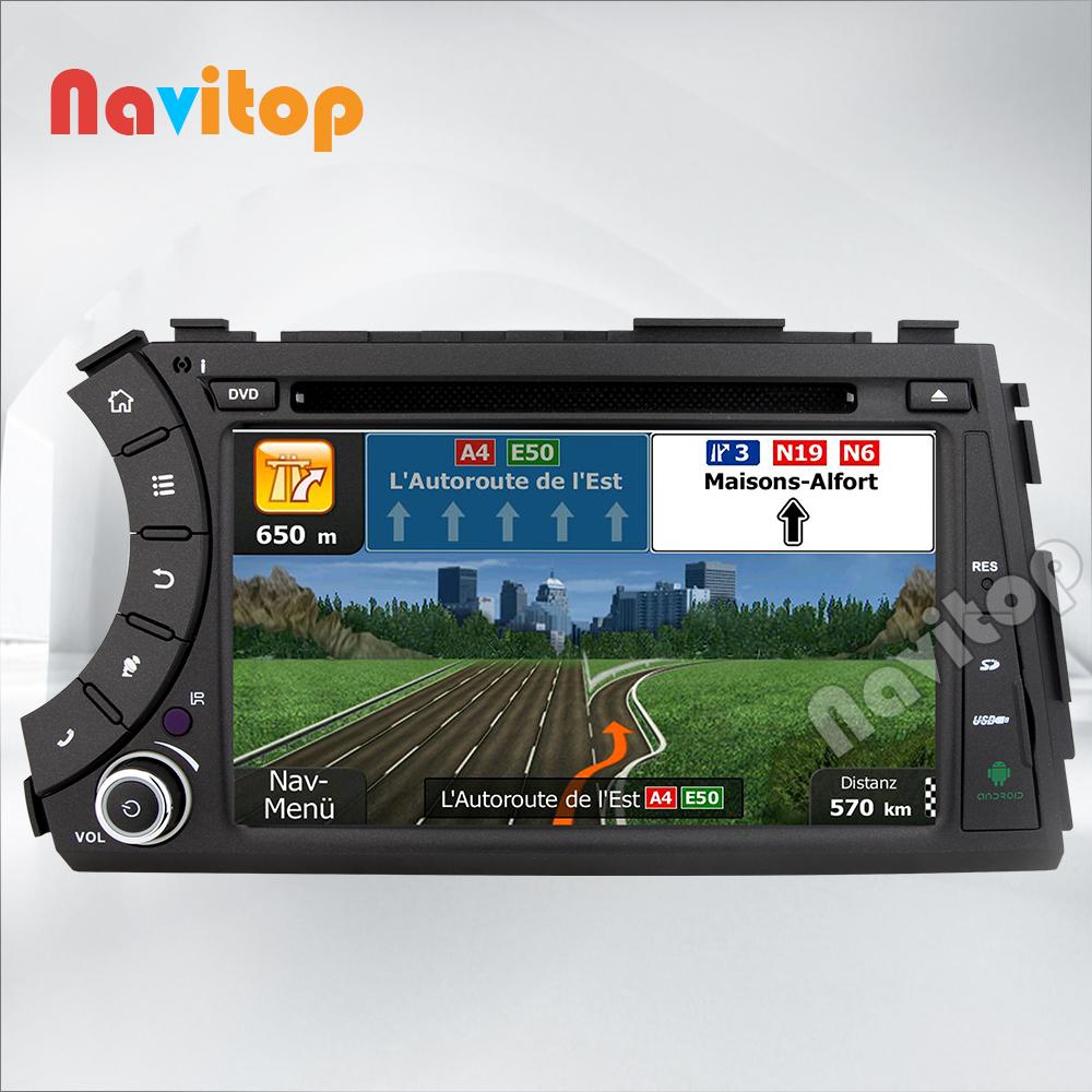 Navitop Android 4.4 Car DVD player gps for Ssang Yong SsangYong Kyron Actyon Sports Korando 2005-2013 GPS Radio Stereo headunit(China (Mainland))