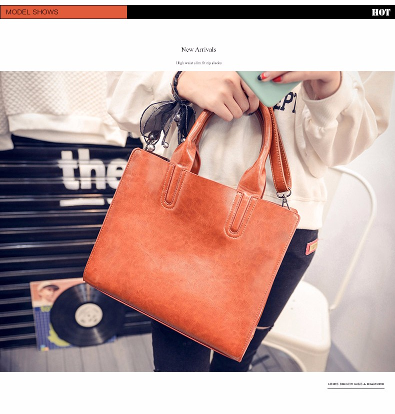 Square Bag Ladies Ultra Simple PU Leather Handbag Designer Casual Plain Hand Bag Women Fashion High-volume Shoulder Bag