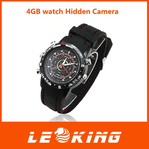 NEW 2014 4GB watch Camera 1280*960 MINI DV DVR water proof watch camera free shipping(China (Mainland))