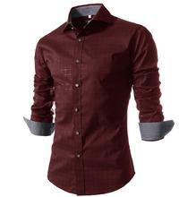 Camisa Masculina Slim Fashion Men Shirt 2016 New Brand Casual Long-Sleeved Chemise Homme Plaid Male Large Size XXXXL VSKA(China (Mainland))