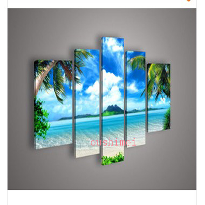 Wall Decor Prints Canvas : Unique gift handmade piece seascape landscape oil