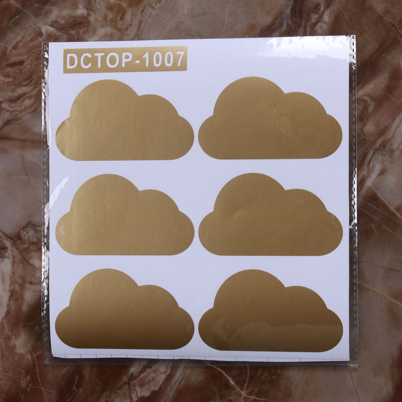 DCTOP 6 Pieces/Lot Modern Style Clouds Pattern PVC Wall Stickers For Kids Room Self Adhesive Removable DIY Wall Decal Sticker(China (Mainland))