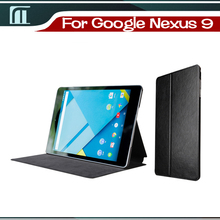Cover For Google Nexus 9 Tablet case Luxury Smart PU leather cover case for HTC Nexus 9 case auto sleep wake function dormancy