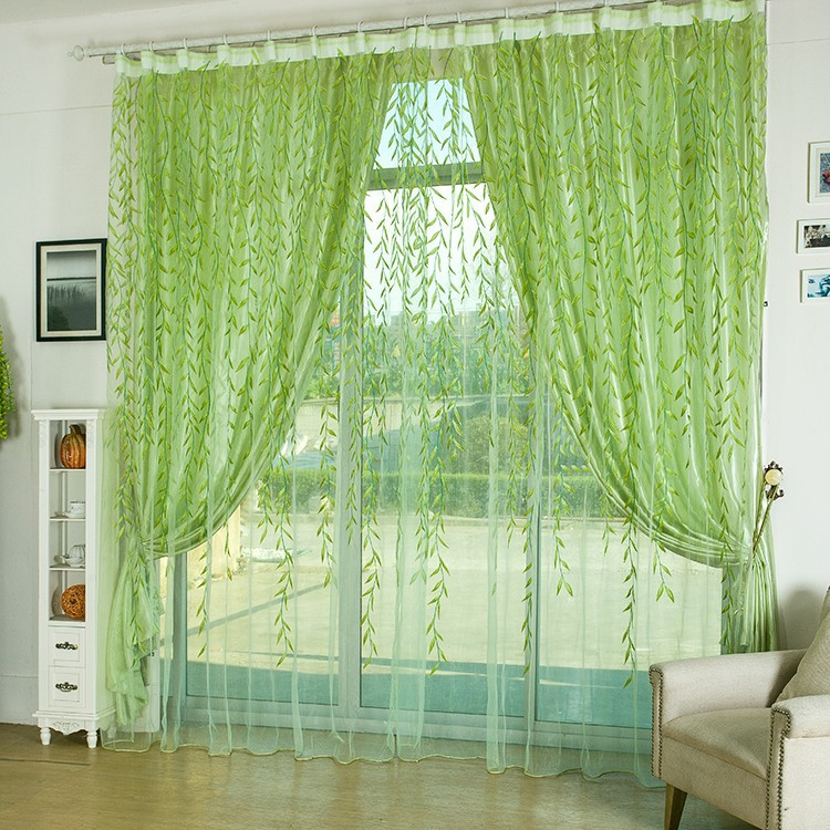 green willow sheer curtain garden style modern living room curtains