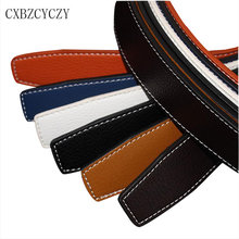 Buy 2017 Leather Designer Mens Belts Luxury Men High Brand Belt Gold Smooth buckle Leather Ceinture Homme 105-125CM for $18.75 in AliExpress store