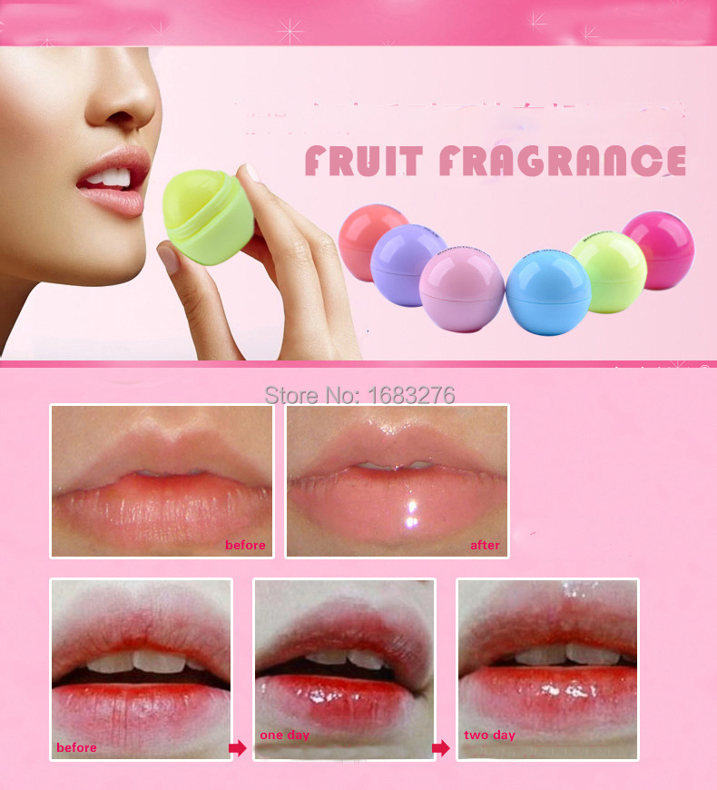 Brand new Fruit Flavor Organic Moisturizing Lip Balm,essential plant oils For Dry Chapped Lips makeup- Pack of 6 free shipping(China (Mainland))