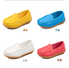 Children s shoes Spring 2015 Korean version of the new boys and girls slip PU flat