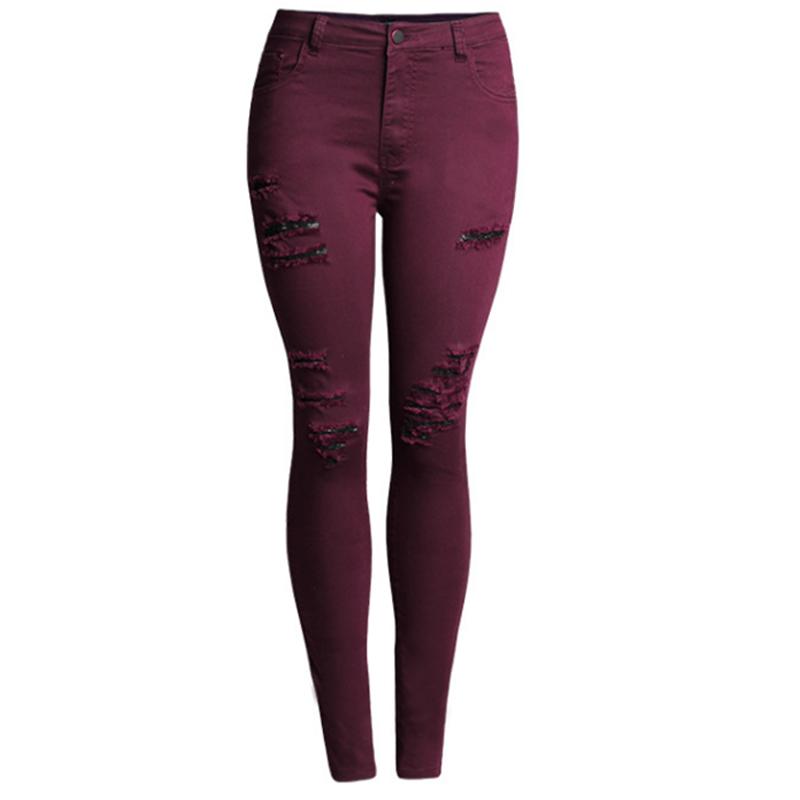 2016 elastic woman jeans denim plus size skinny high