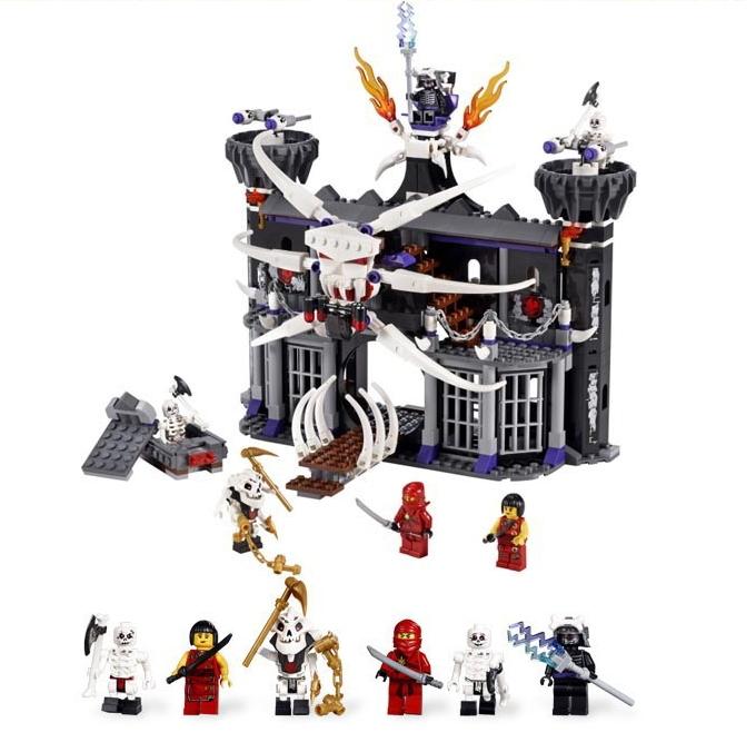 BELA 9735 552013 large Ninjago Ninja minifigures Garmadons Dark Fortress weapons building block sets eductional kids toys