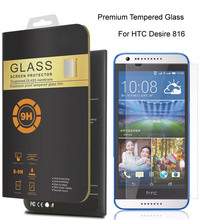 For HTC Desire 816 0.26mm Premium Protective Film Tempered Glass For HTC Desire 816G dual sim Phone Screen Protector(China (Mainland))