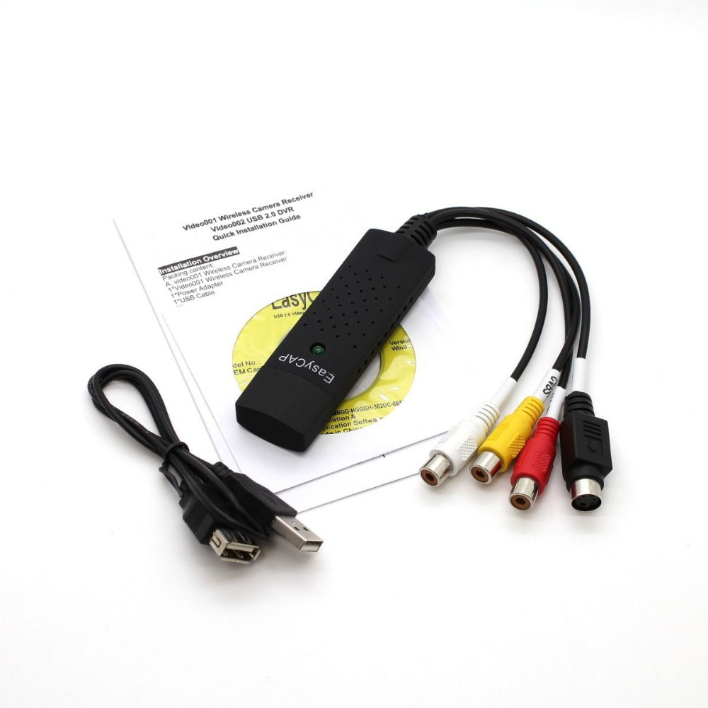 Easycap USB 2.0 Audio Video VHS to DVD Converter Capture Card Adapter for Win7/8 Free Shipping