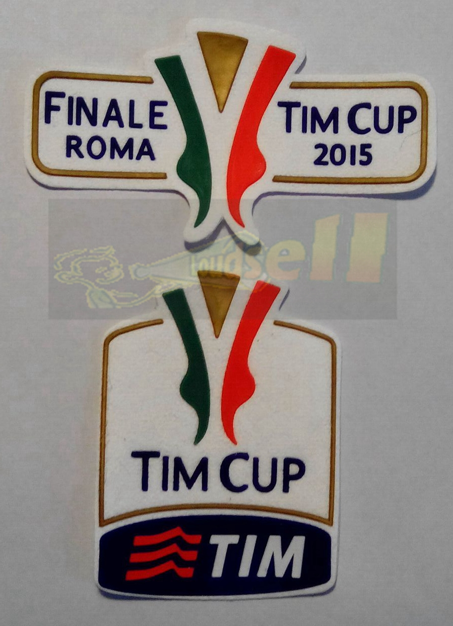 free shipping silica gel 2015 FINALE Italy LAZIO VS JUVENTUS Serie A super cup TIM CUP COPPA ITALIA soccer patch soccer Badges(China (Mainland))